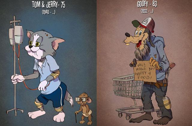 Постаревшие герои мультфильмов